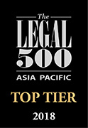 Legal 500 Asia Pacific 2018